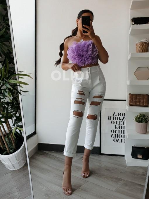 Pantalon Noelia - Blanco