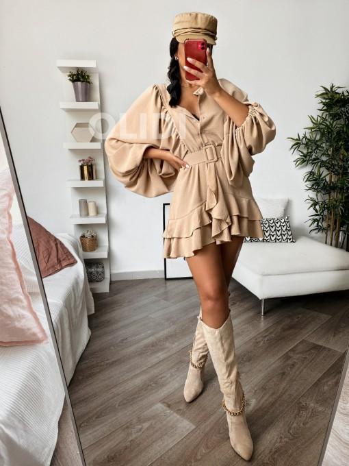 Vestido Lisette - Camel